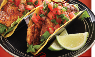 Tomato, Lime and Cilantro Fish Tacos