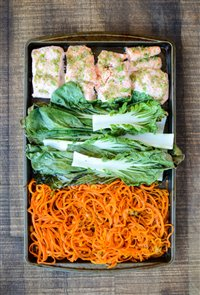 Salmon Bok Choy Sweet Potato